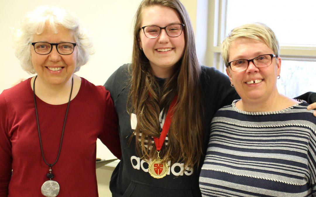 Les Petits Chanteurs de Beauport, Marie-Jeanne Boily,  médaillée des Pueri Cantores Canada, 2019