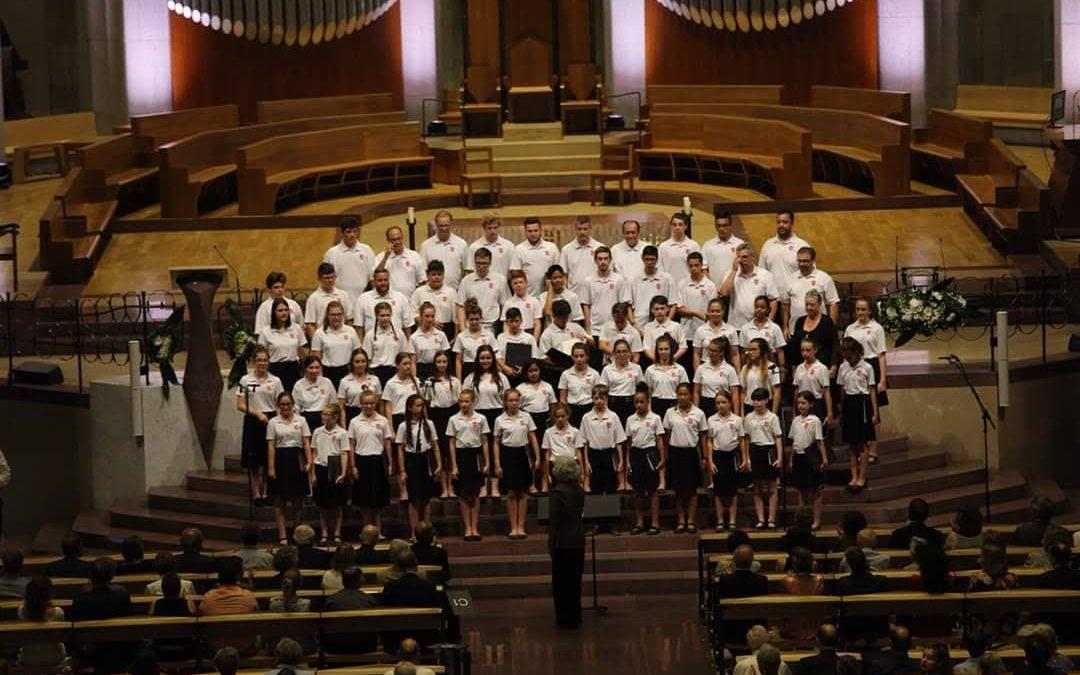 Le chœur des Pueri Cantores Canada, Sagrada Familia, Espagne, 2018